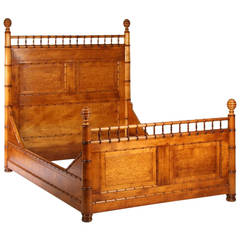 19th Century Faux Bamboo Bed