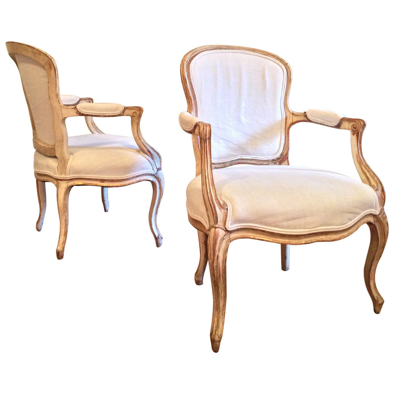 19th century pair of french louis xv style fauteuils at 1stdibs - Fauteuil style louis xv ...