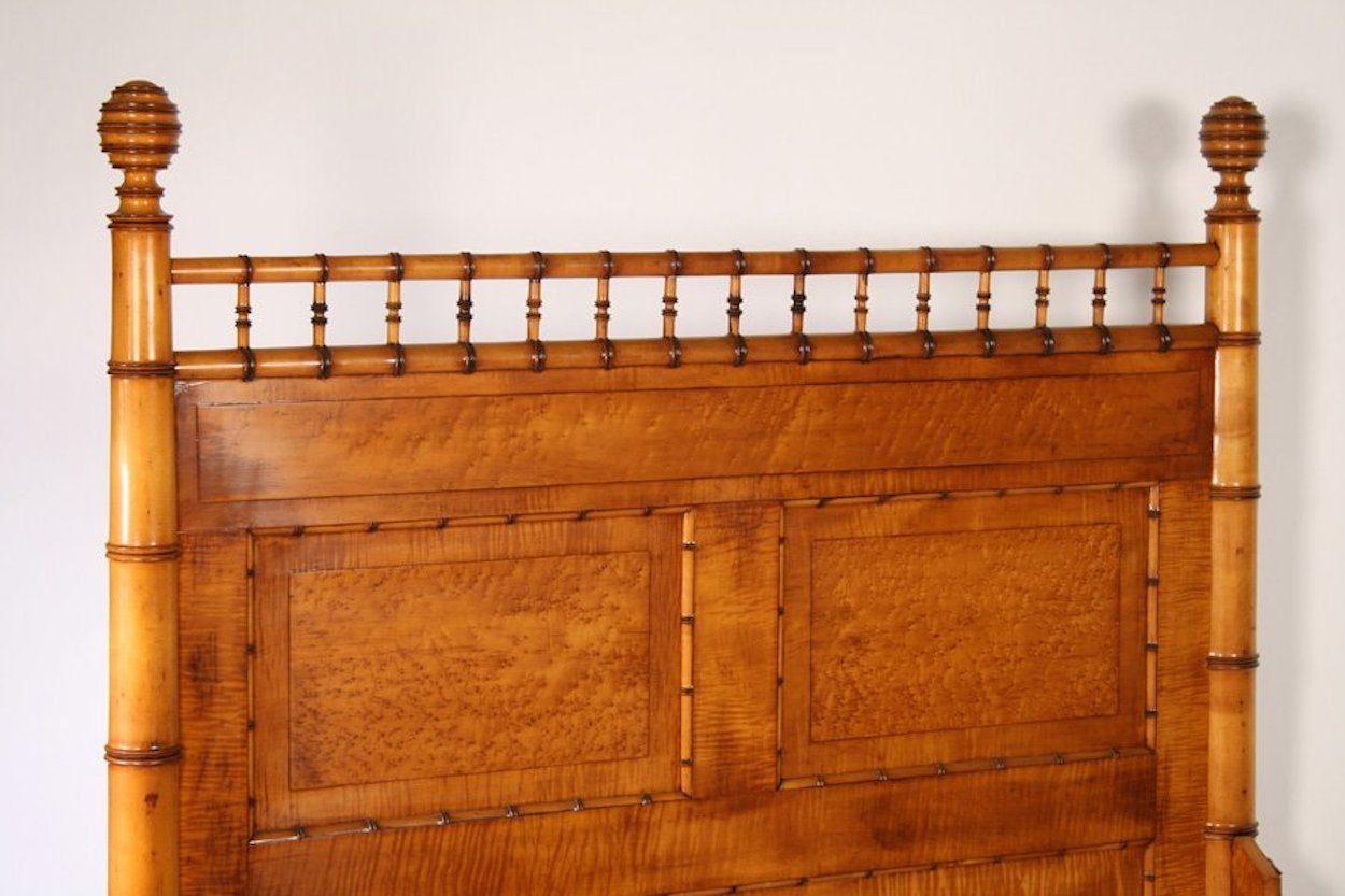 Aesthetic Movement 19th Century Faux Bamboo Bed For Sale