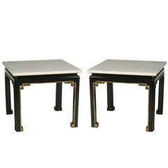 Pair of French Chinoiserie Fretwork Cocktail Tables