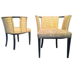 Pair of Armchairs Designed by James Mont