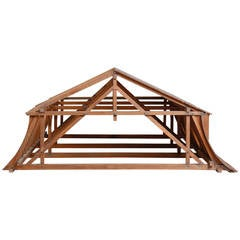 19th Century Didactical Architecture Model of a Mansarde Attic