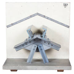 Large 19th Century Didactical Architecture Model of a Steel Roof Construction