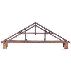 19th Century Didactical Architecture Model of a Wooden Attic Section
