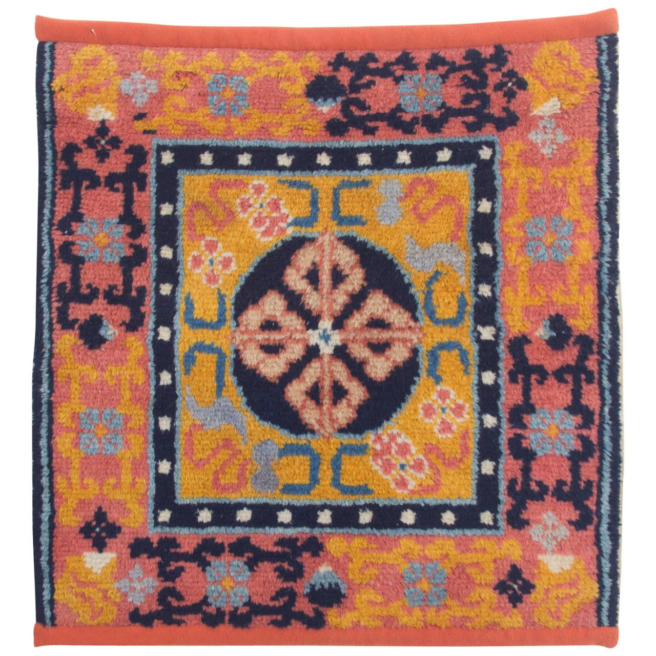 Antique Tibetan Rug: Antique Tibetan 19th Century Meditation Mat At 1stdibs