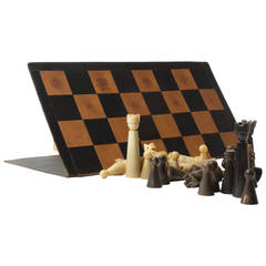 Rare and Early Horn Chess by Carl Auböck