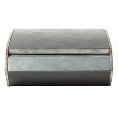 Rare Curved White Metal Jewelry Box by Carl Auböck