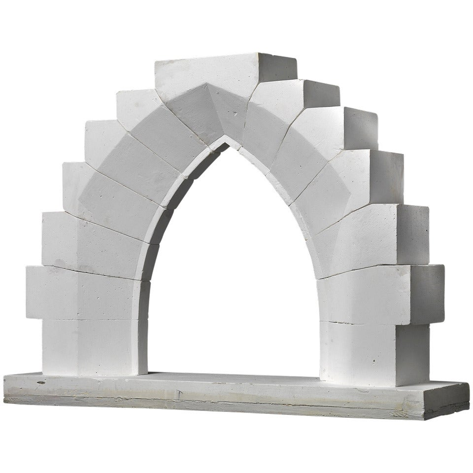 19th Century Didactical Architecture Model Of Gothic Pointed Arch With Reveal For Sale