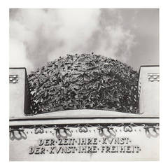 Lucca Chmel Photograph, Leaf Dome of the Secession with Slogan, Vienna