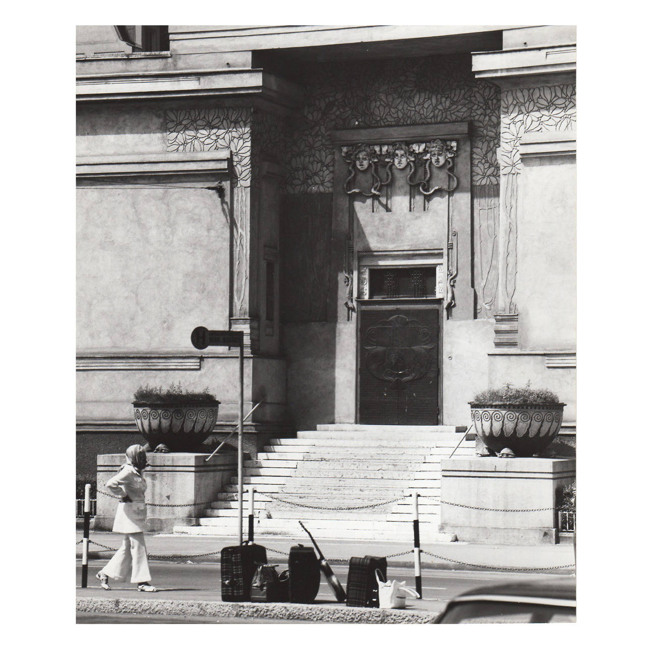 Lucca Chmel Details of the Secession, Vienna: the Entrance, vintage photograph