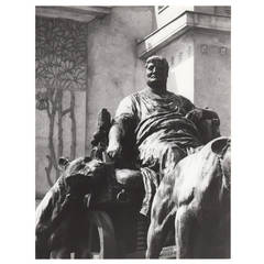 Lucca Chmel Photograph Secession, Vienna Depicting the Marc-Anton Monument
