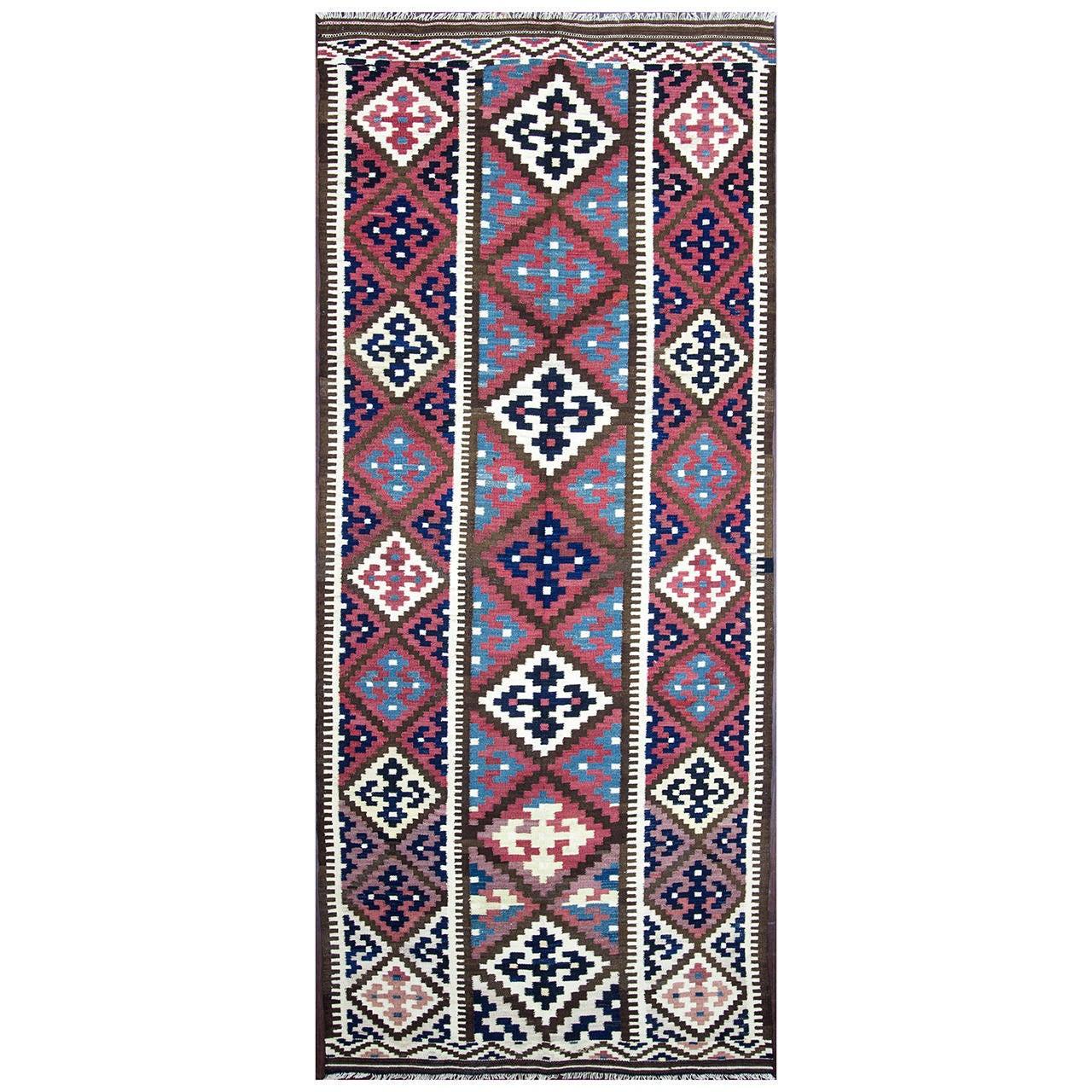 Caucasian Kilim Rug: Azerbaijan ( Caucasian ) Kilim, Flat Weave Rug, Carpet At