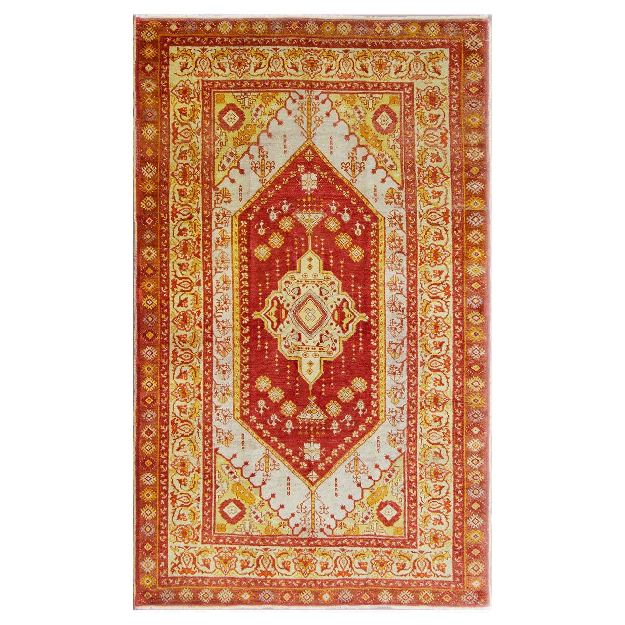 "Oushak Rugs For Sale: 4'3"" X 7'2"" Turkish Oushak Anatolian Rug For Sale At 1stdibs"