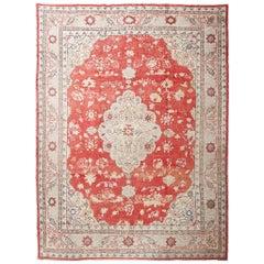 Vibrant Turkish Oushak Carpet