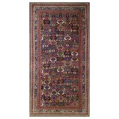 "Antique Persian Afshar Carpet, 4'10"" x 9'4"""