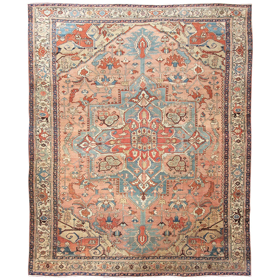 Fine Antique Serapi Carpet