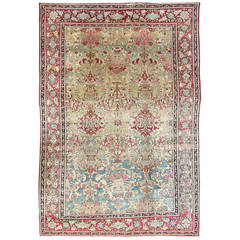 Antique Unusual Isfahan Carpet