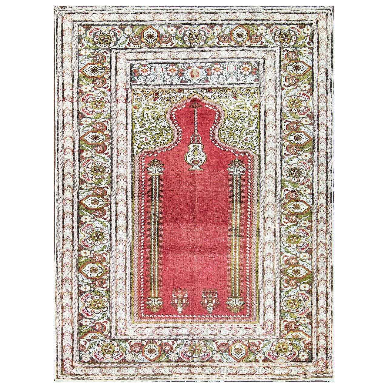 Silk Kayseri Prayer Rug At 1stdibs