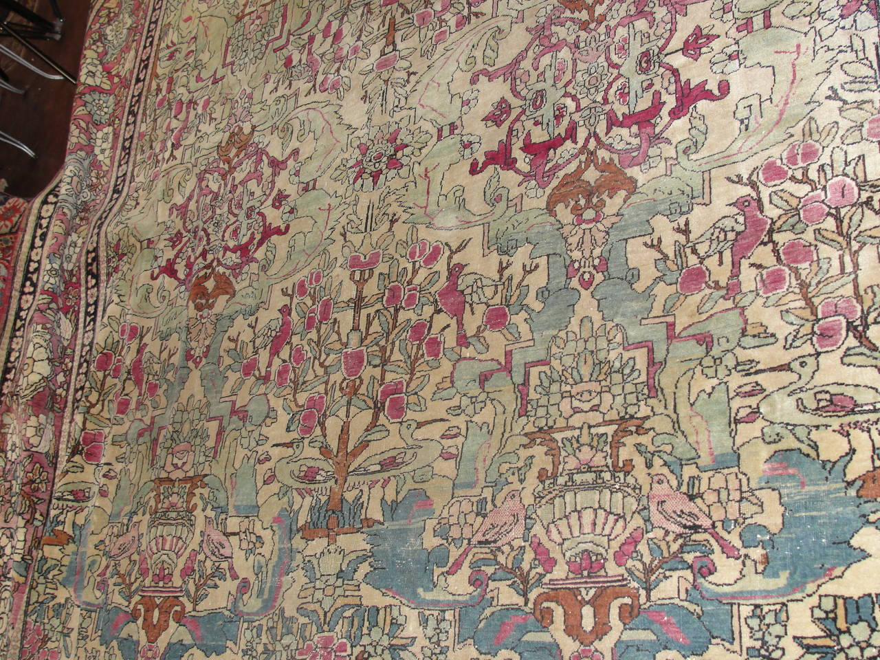 Antique Unusual Isfahan Carpet For Sale At 1stdibs