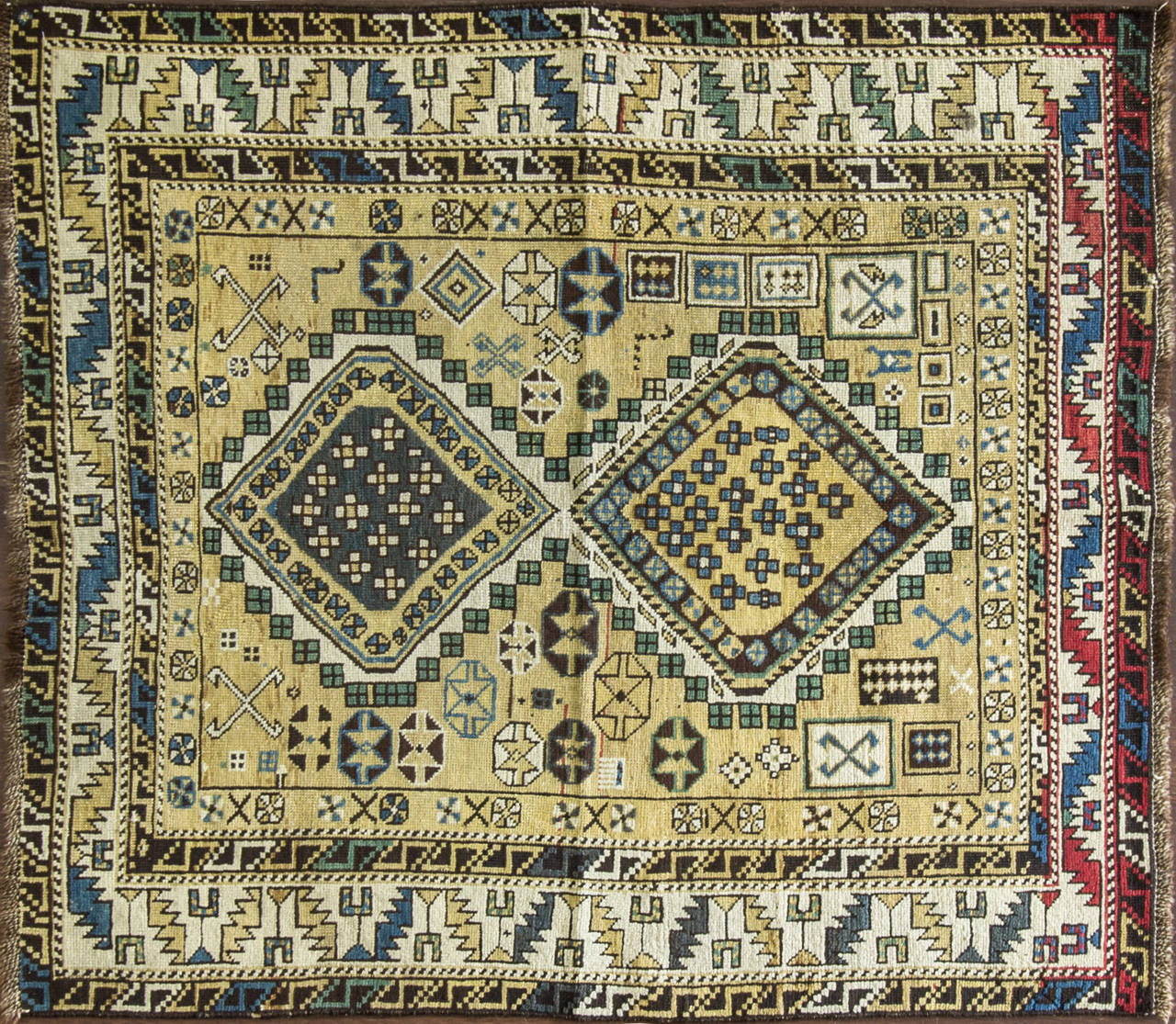 The district of Shirvan produced many highly decorative antique rugs that have complexity that is found in few rugs from the Caucasus. Shirvan, which is part of modern-day Azerbaijan, was populated by Azeri Turks and some Armenians, who were expert