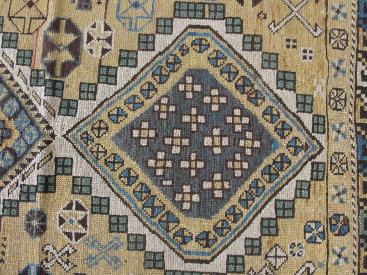 Hand-Woven Shirvan Caucasian Rug For Sale