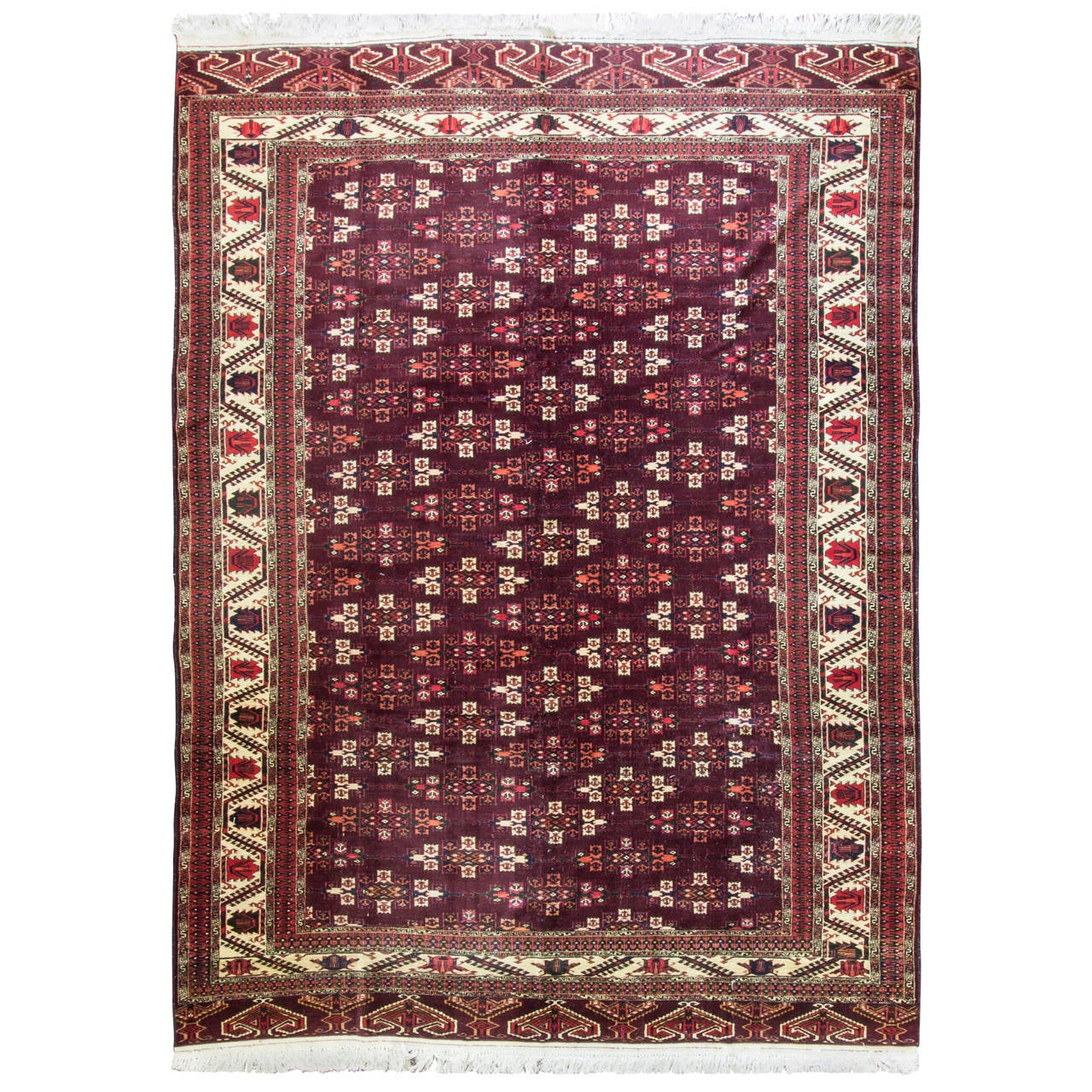 Yomut Turkmen Carpet At 1stdibs
