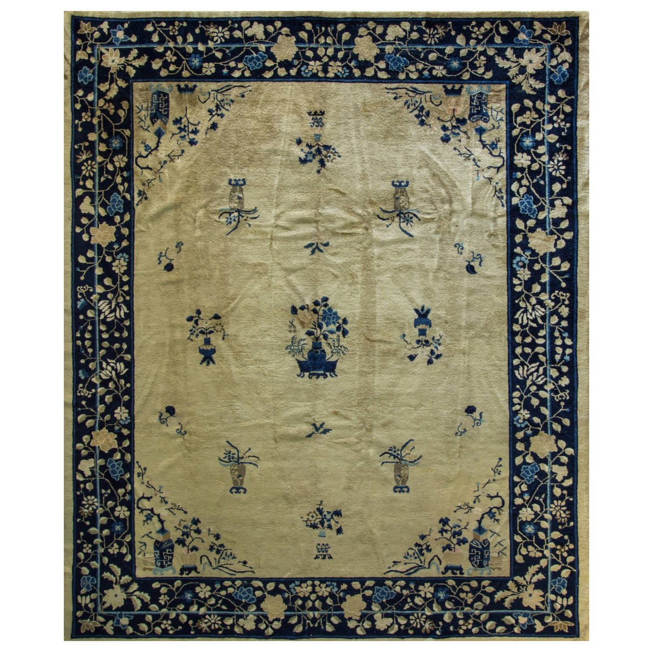 Antique Chinese Rug: Antique Chinese Peking Carpet For Sale At 1stdibs