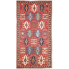 "6'5"" x 10'7"" Antique Kuba Kilim, Caucasian"