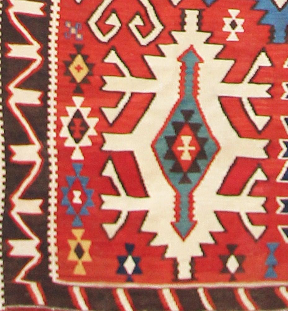 Caucasian Kilim Rug: Antique Kuba Kilim Rug, Caucasian At 1stdibs