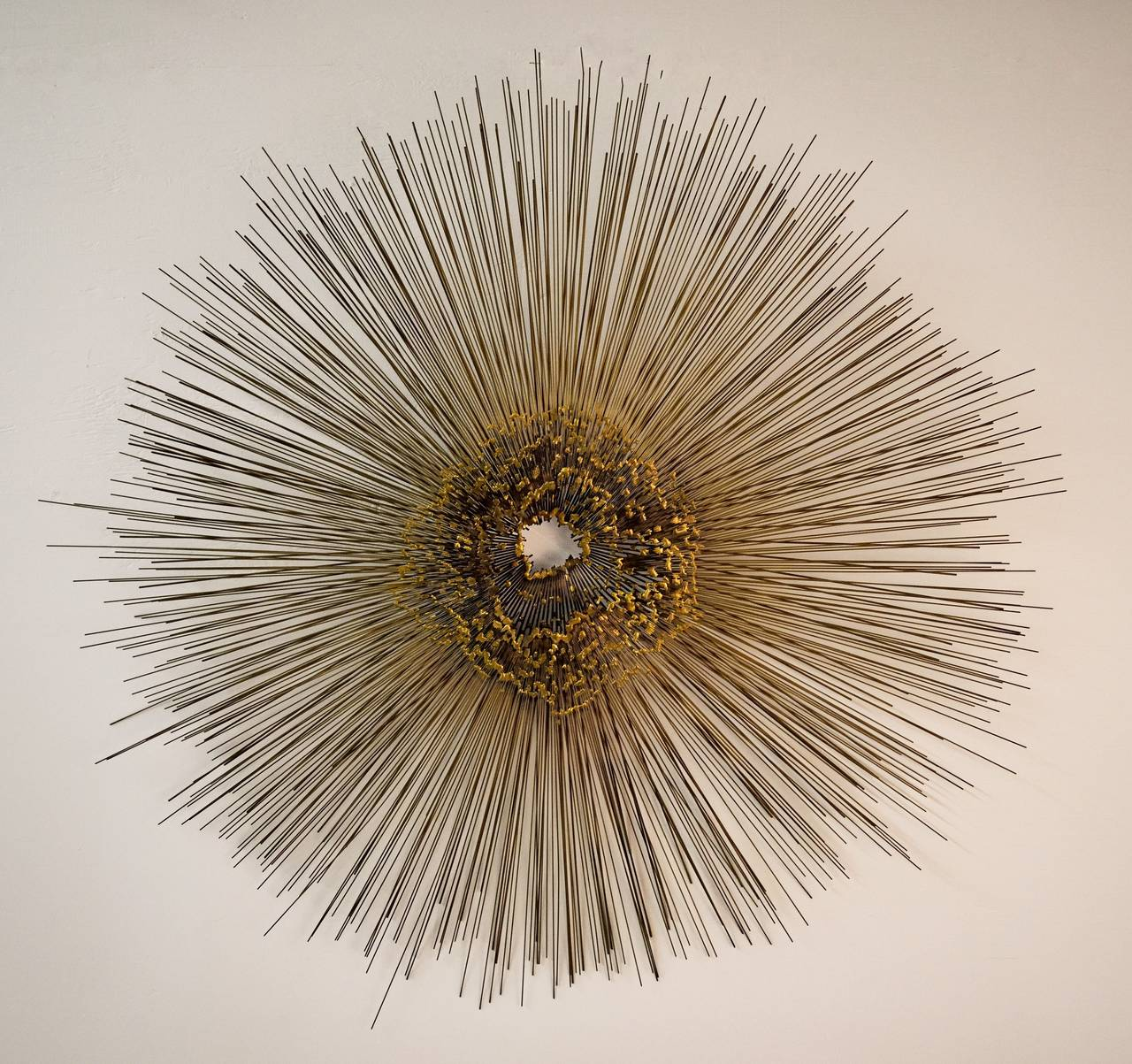 Large metal sunburst wall sculpture by friedle for sale at for Sunburst wall art