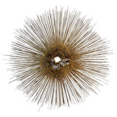 Large Metal Sunburst Wall Sculpture by Friedle