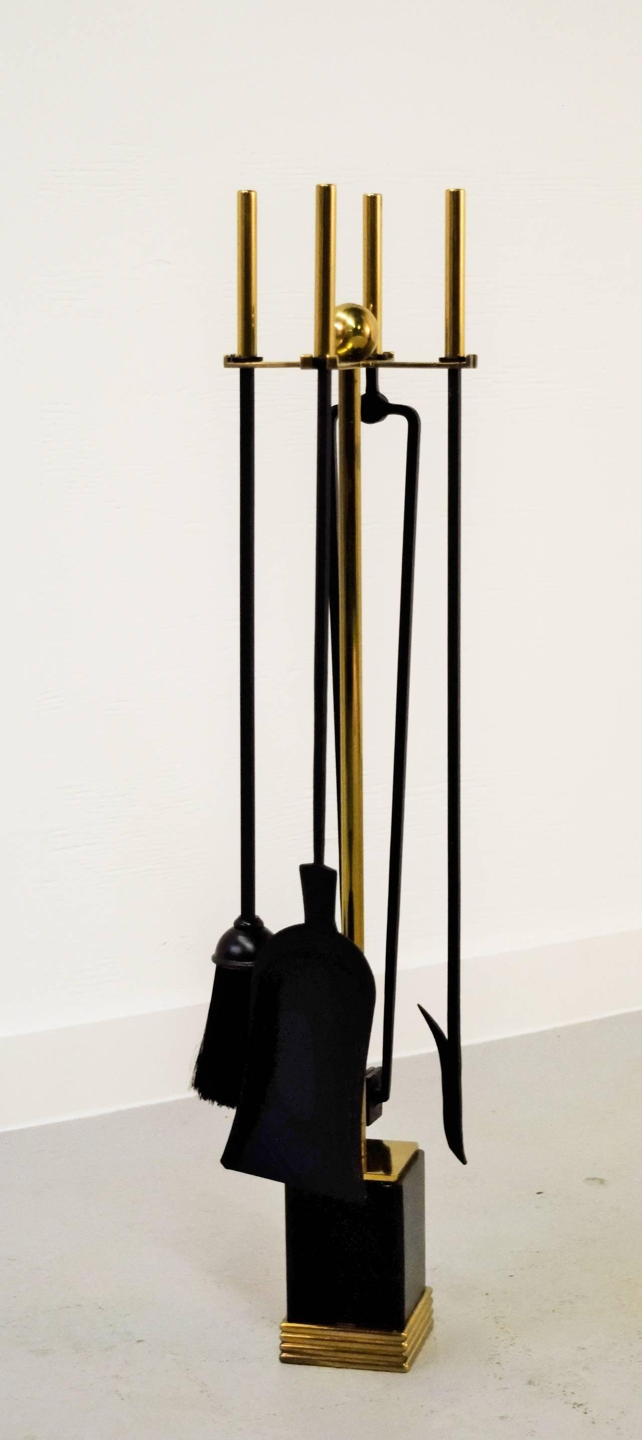 William H Jackson New York Ny Modernist Fireplace Tool Set
