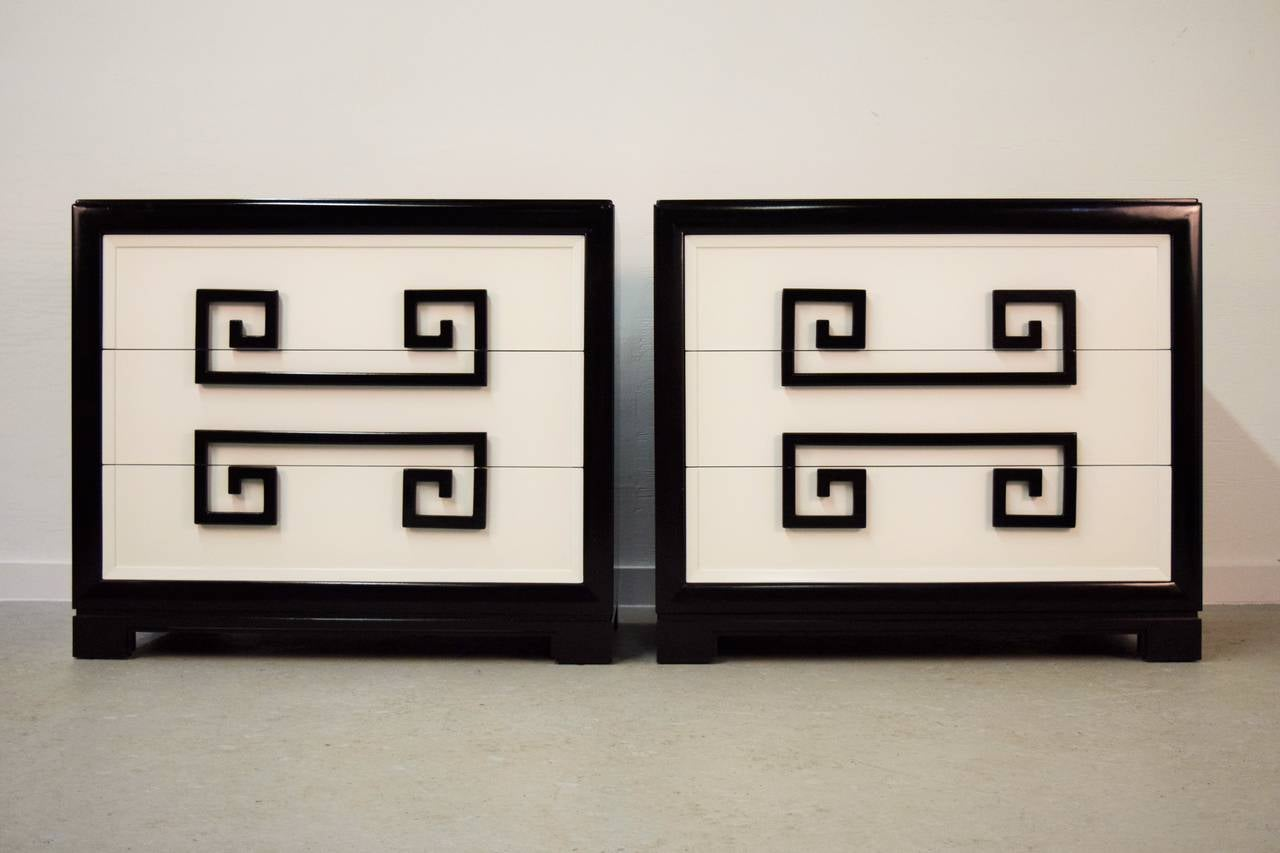 Pair Of Greek Key Chests By Kittinger For Sale At 1stdibs