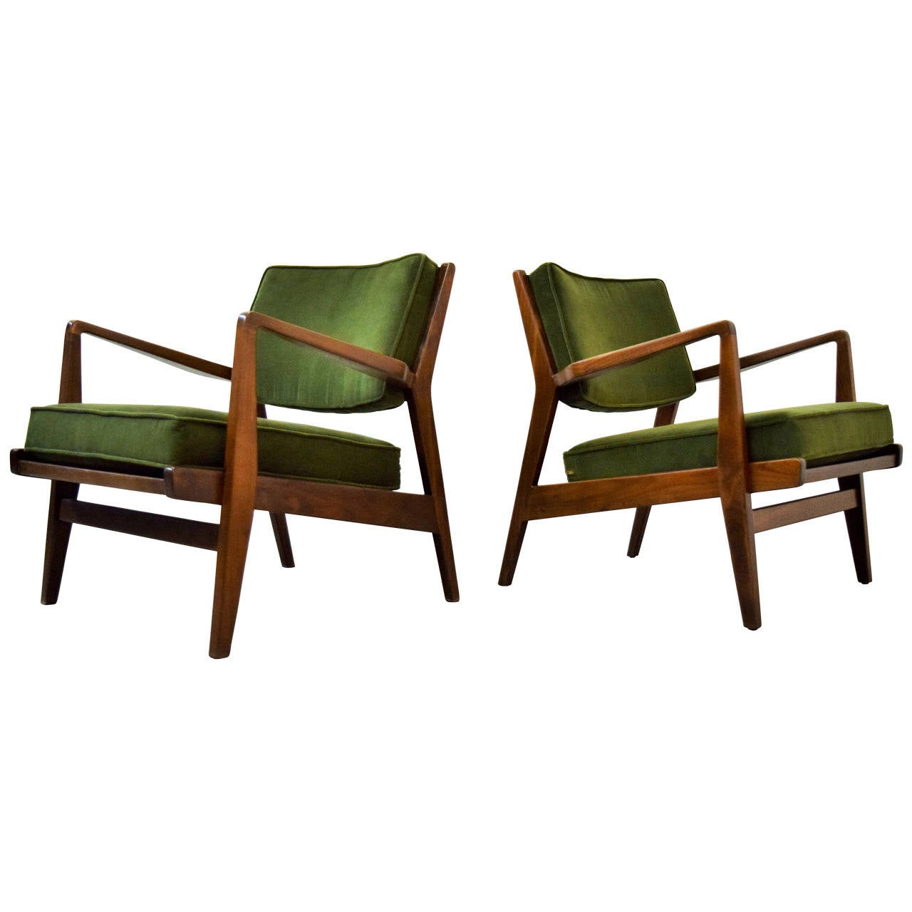 Pair of Jens Risom Lounge Chairs at 1stdibs