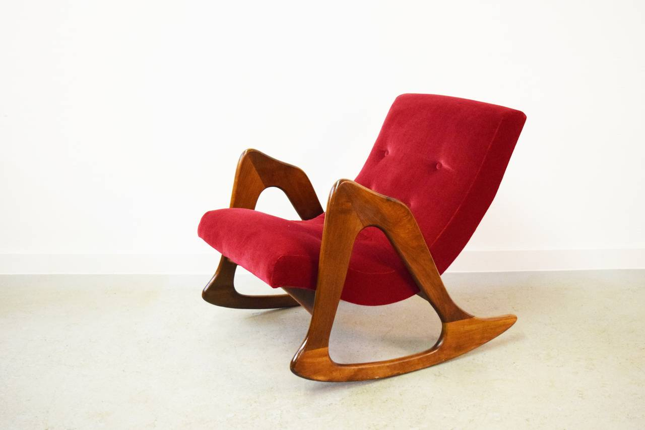 American Adrian Pearsall Rocking Chair for Craft Associates