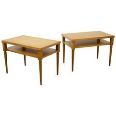Pair of T.H. Robsjohn-Gibbings Side Tables for Widdicomb