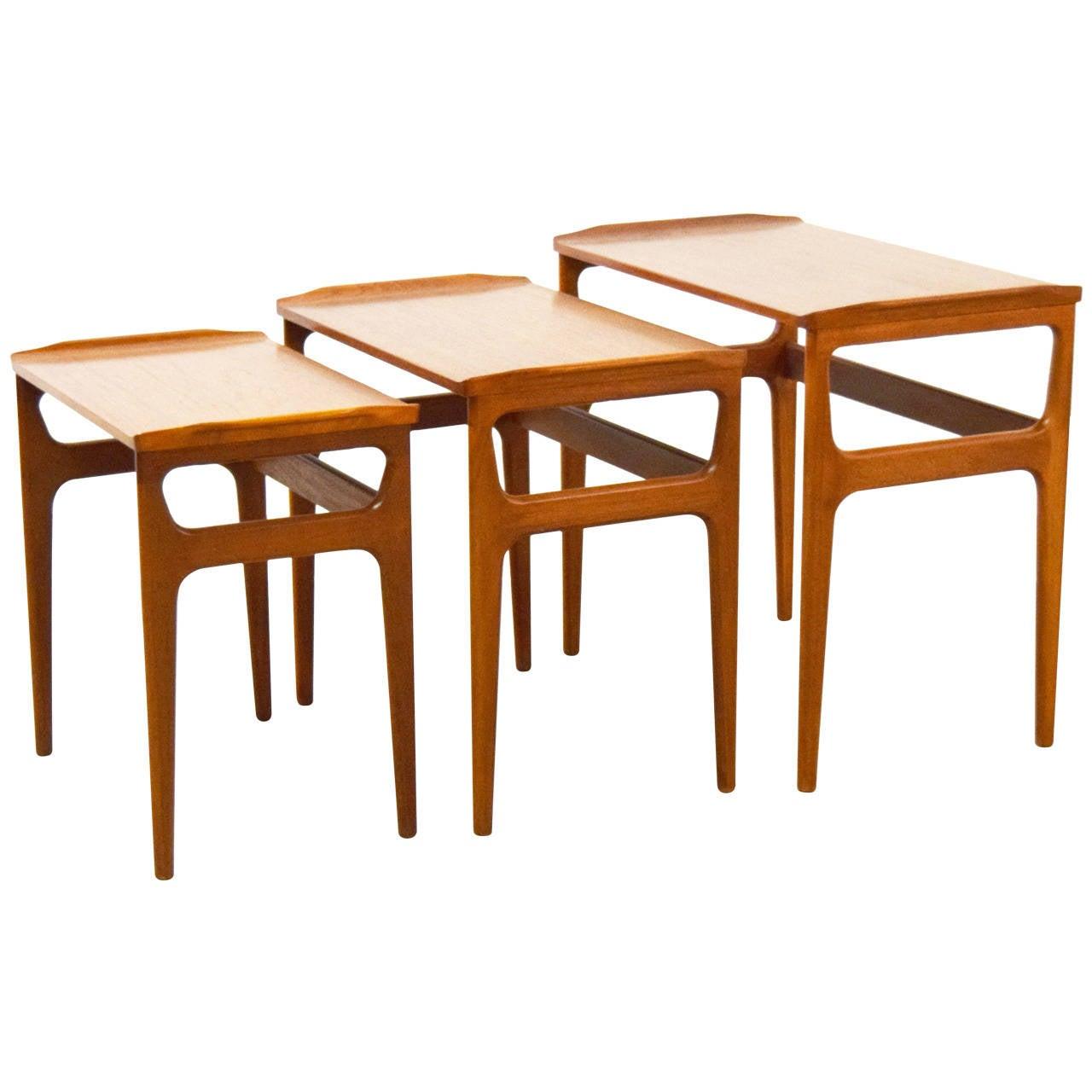 Heltborg Mobler, Denmark Nesting Tables For Sale at 1stdibs