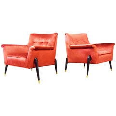 Mid-Century Sculpted Spider Leg Lounge Chairs