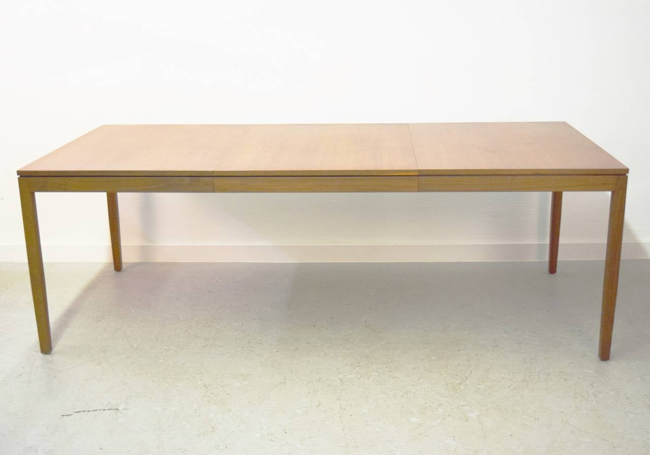 florence knoll walnut dining table table includes a 28 w leaf total