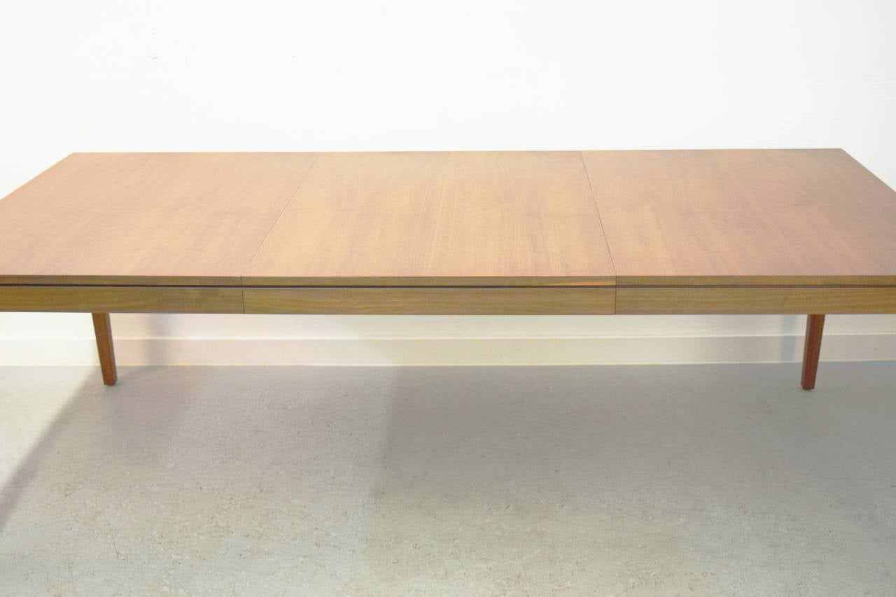 florence knoll walnut dining table for sale at 1stdibs