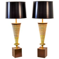 Pair of Sculptural Rembrandt Lamps