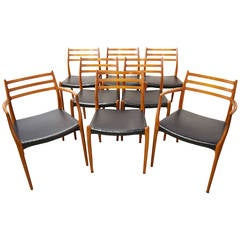 Set of Eight Teak Dining Chairs by Niels Otto Møller #78