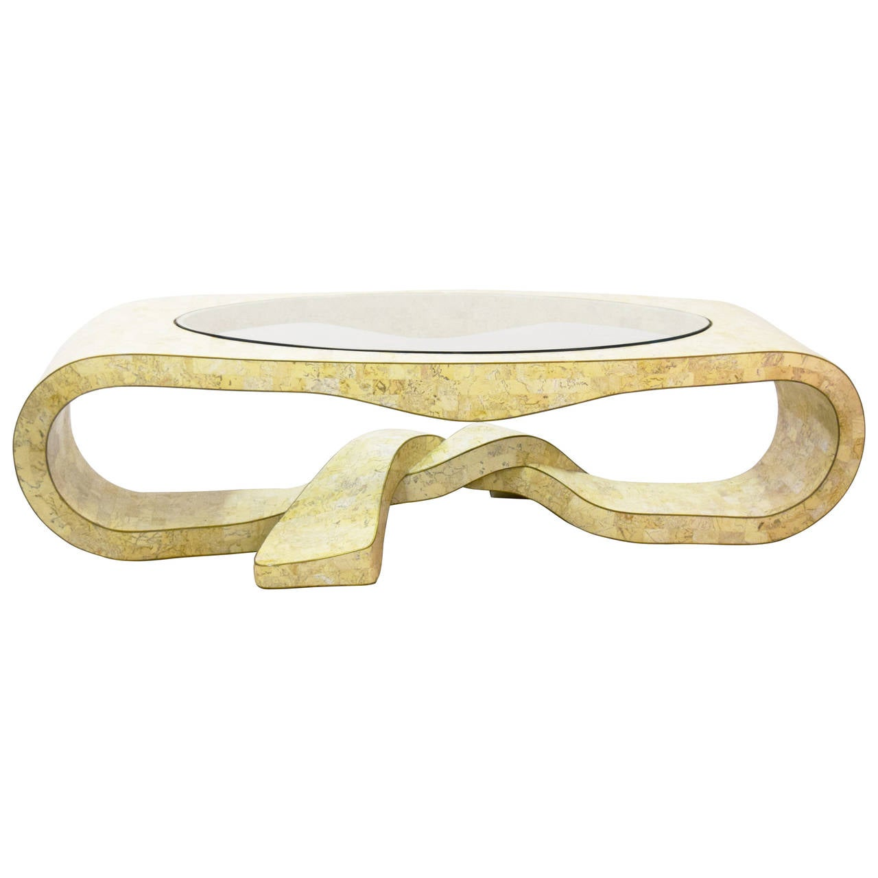 Maitland-Smith Tesselated Stone Sculptural Coffee Table