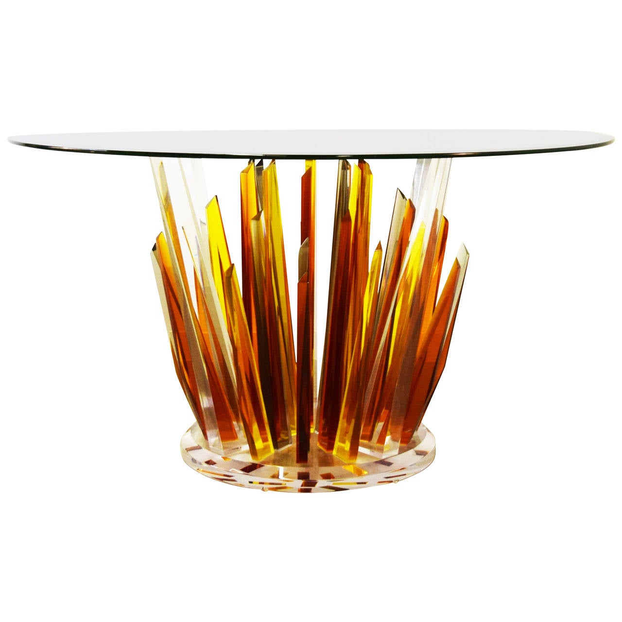signed haziza multi colored acrylic dining table for sale acrylic dining room furniture www imgarcade com online