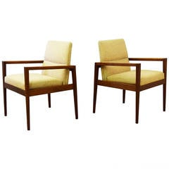 Pair of Mid-Century Lounge Armchairs by Jens Risom