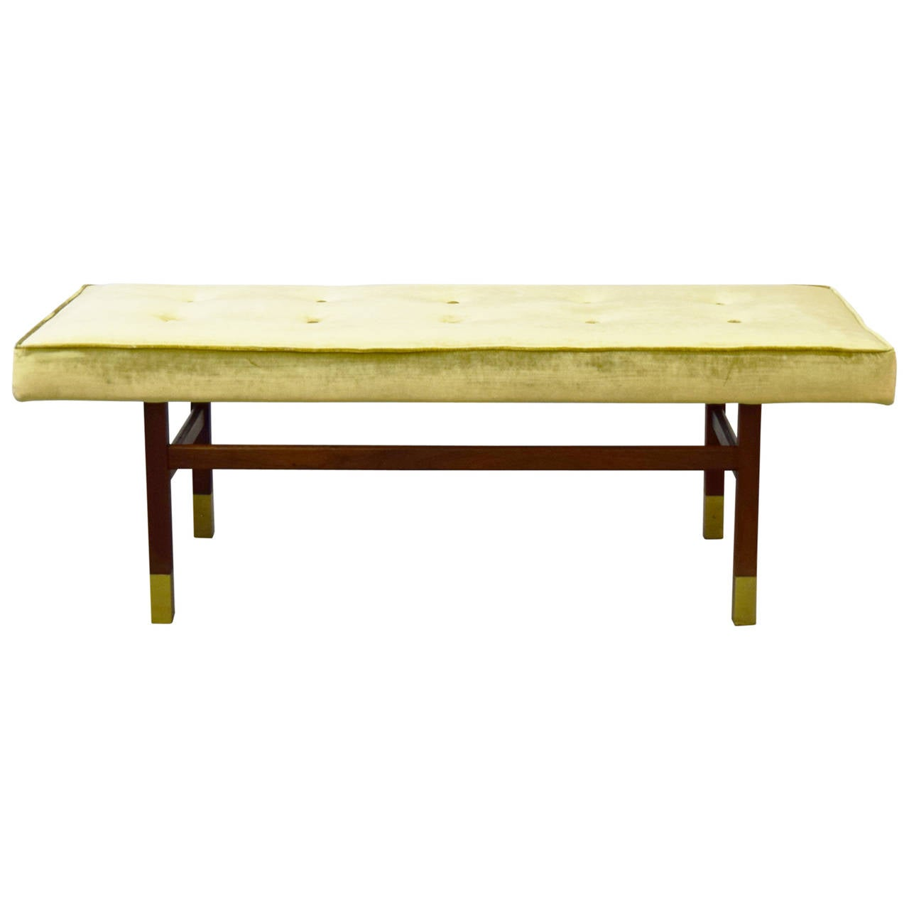 Mid Century Harvey Probber Style Tufted Bench At 1stdibs
