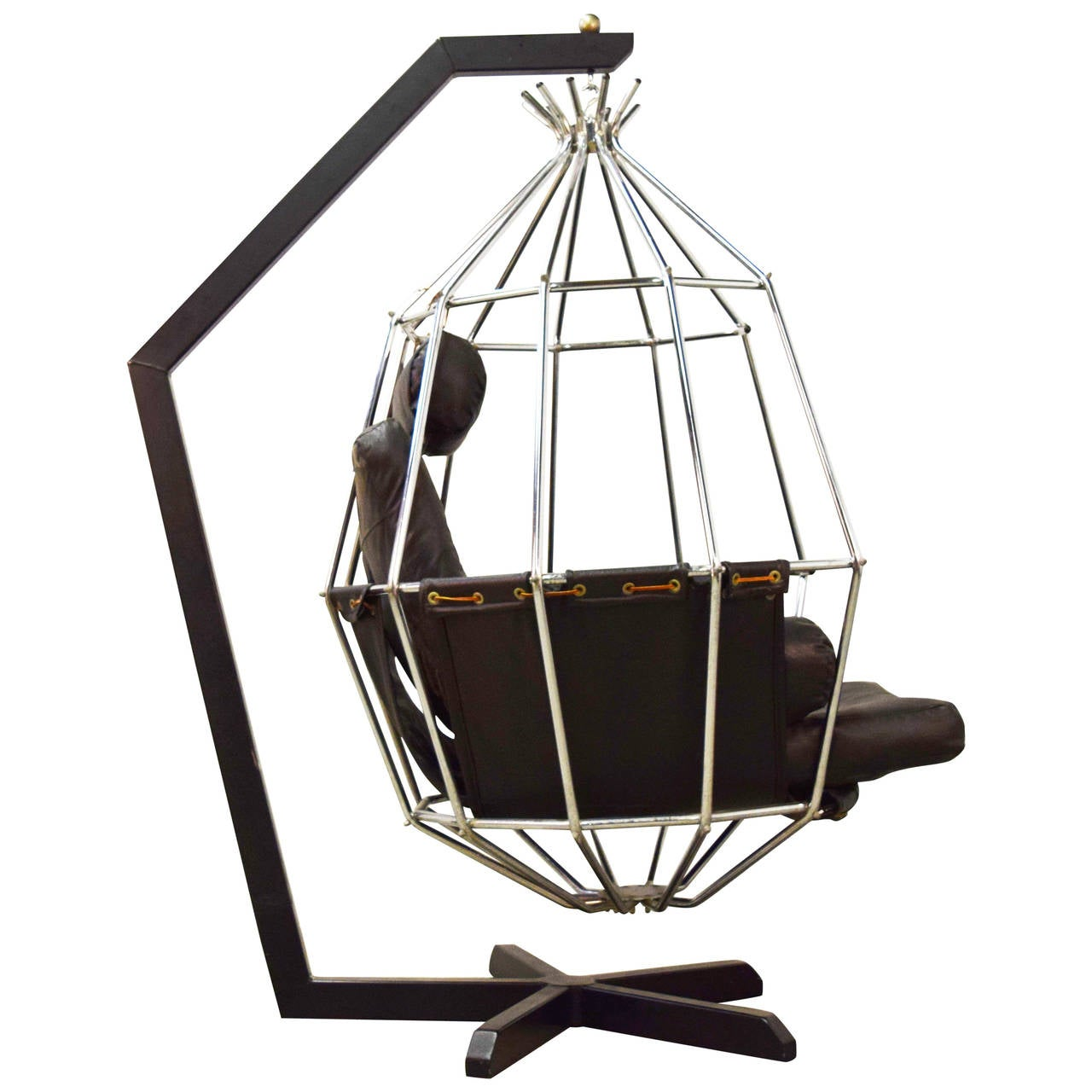 Great Ib Arberg Hanging Birdcage Chair For Sale At 1stdibs