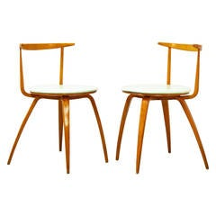 Pair of George Nelson Pretzel Chairs