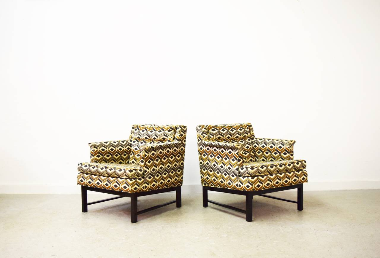 Pair of Edward Wormley for Dunbar lounge chairs.