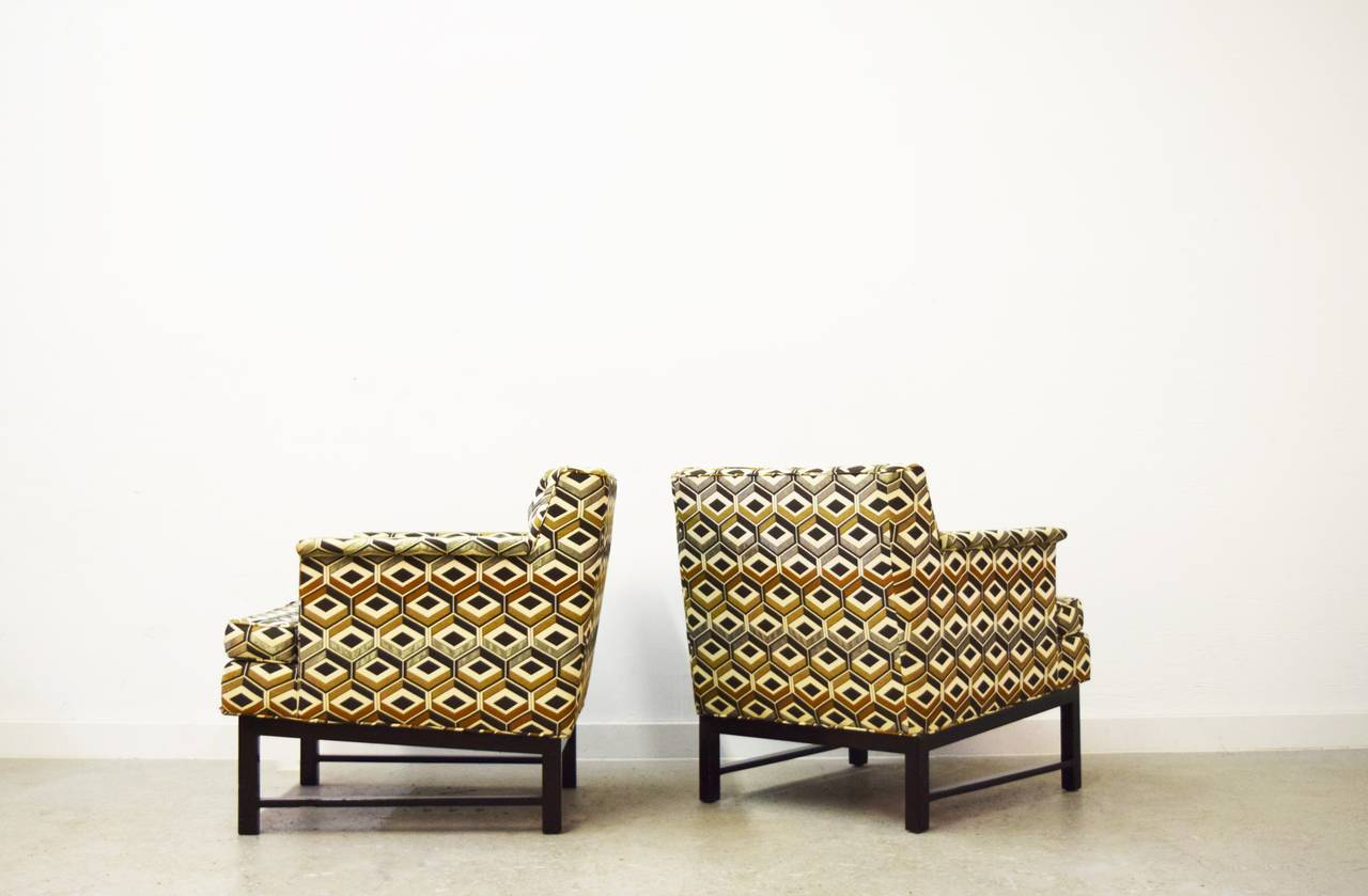 Mid-Century Modern Pair of Edward Wormley for Dunbar Lounge Chairs For Sale